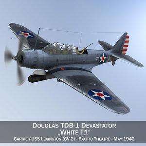 douglas tdb-1 devastator - 3d 3ds