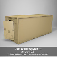 3d model 20ft office container version