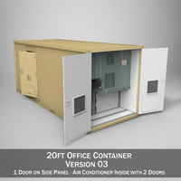 20ft office container version 3d model