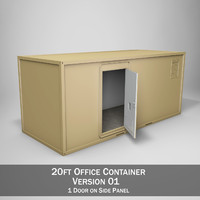 3d model 20ft office container