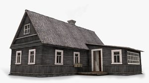 3d model old house interior