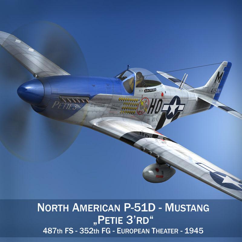 3d north american - petie model