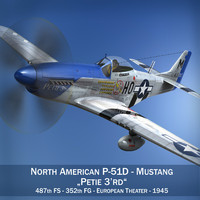 North American P-51D Mustang - Petie 3rd