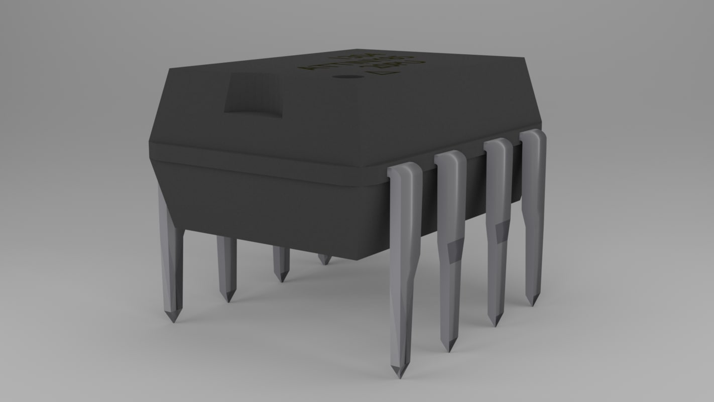 free attiny85 microcontroller 3d model