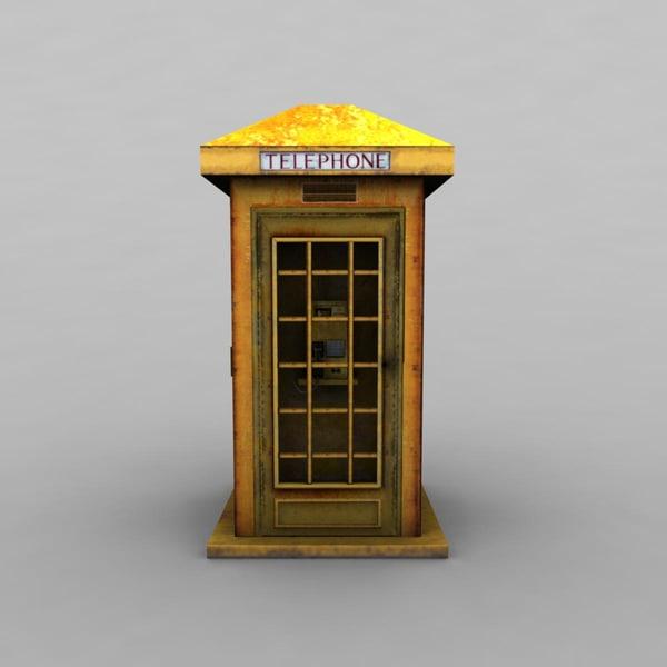 telephone telephonebooth 3d model