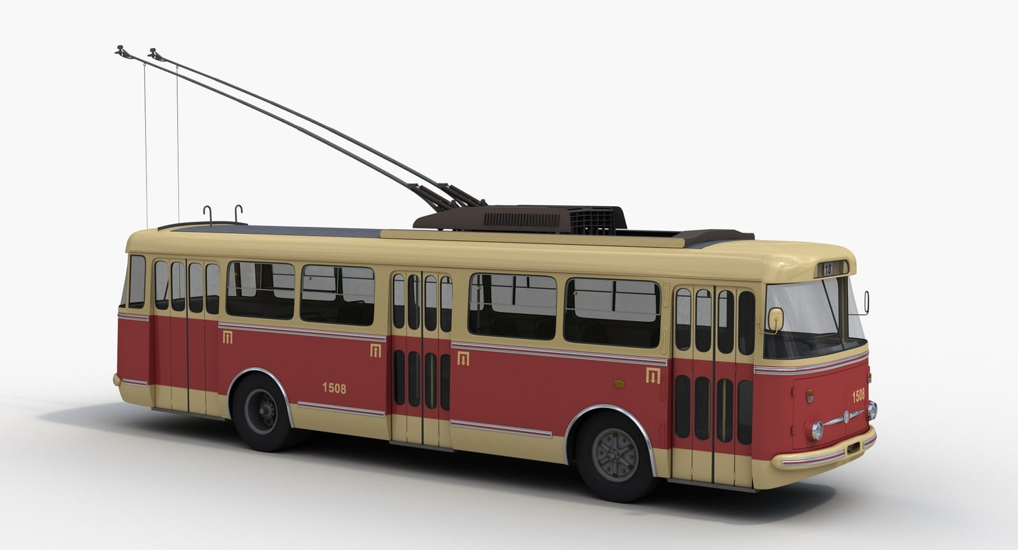 3d model skoda 9tr trolleybus trolley
