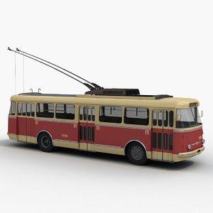 3d model skoda 9tr trolleybus trolley