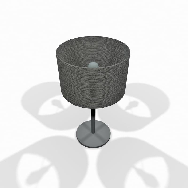 3d model white lamp