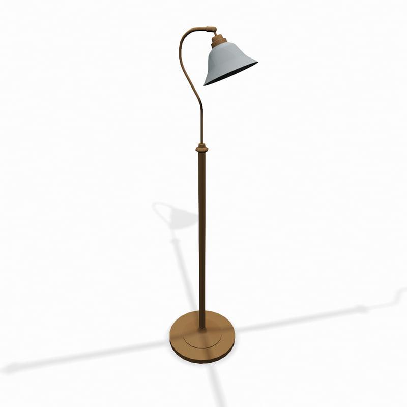 standing living room lamp 3d model