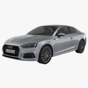 audi a5 coupe 2018 3d model