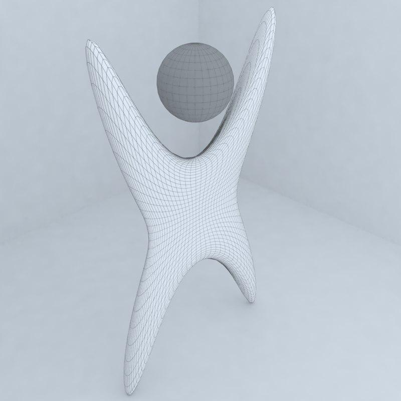 sculpture shopping center 3d model