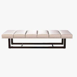 3d model bench elana