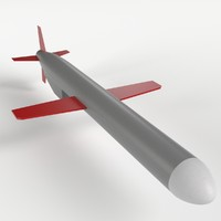 3d model bgm-109 tomahawk cruise missile