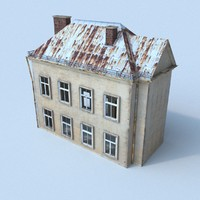 3d obj old house