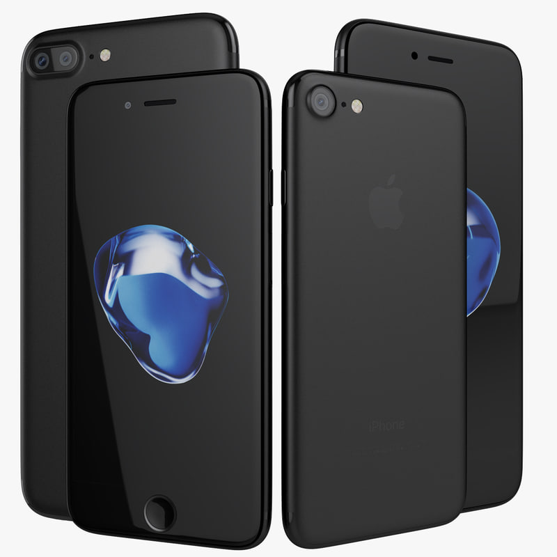 apple iphone 7 jet 3d model