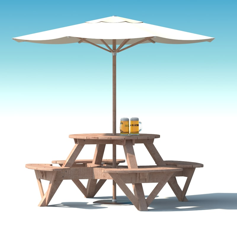 Garden furniture exterior picnic 3d max for Outdoor furniture 3d max