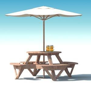 garden furniture: exterior picnic 3d max