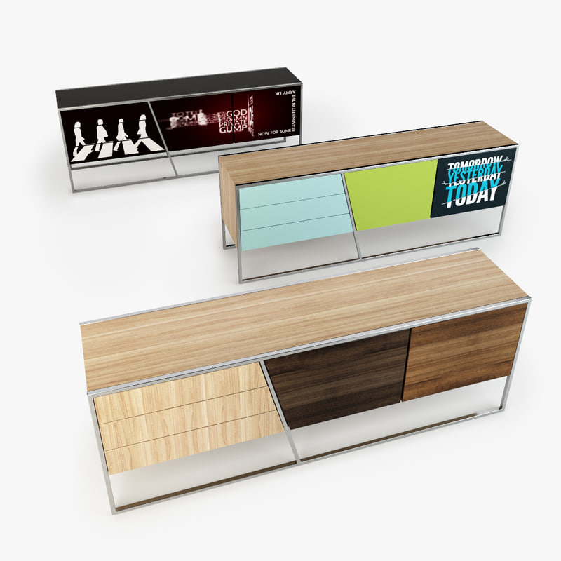 Bolia sideboard 3d model for Sideboard 3d