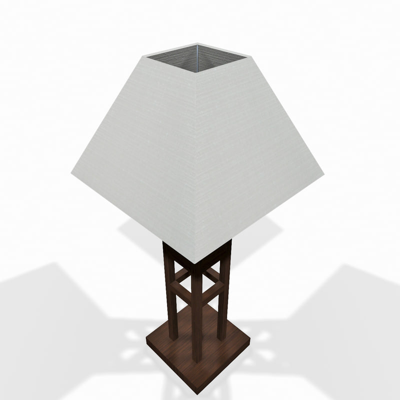 wooden tabletop lamp max