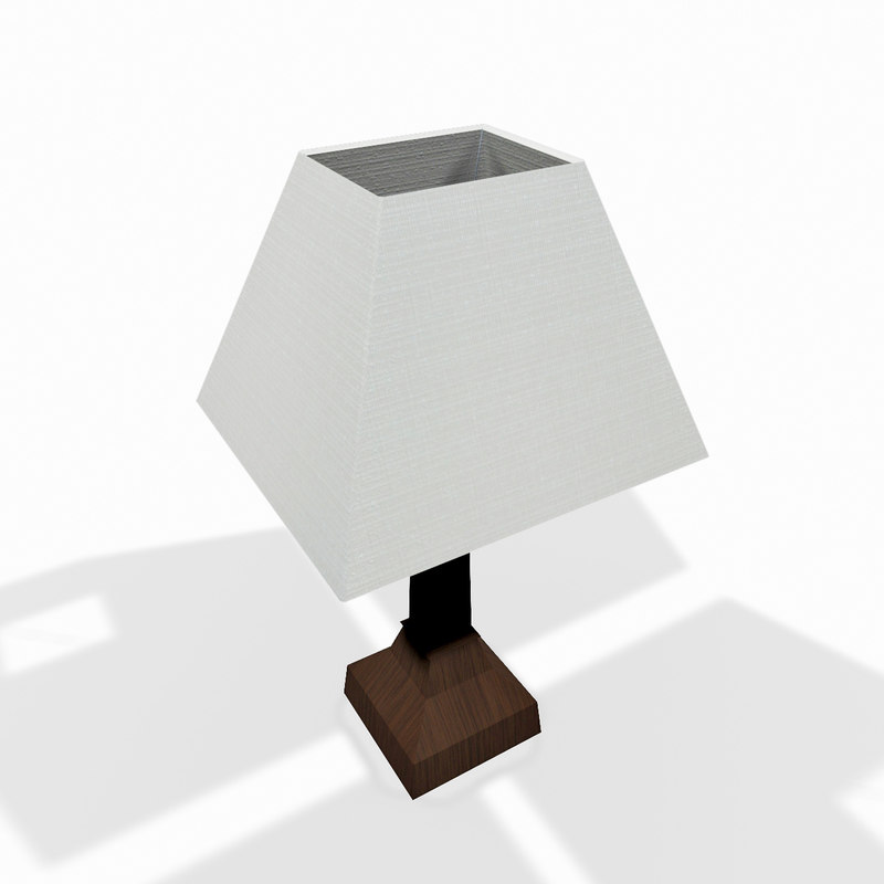 wooden lamp 3d 3ds