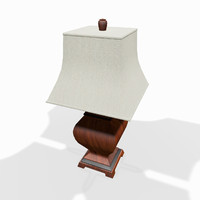 3d wooden tabletop lamp