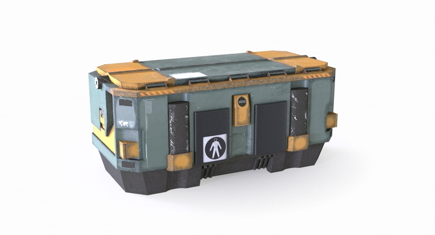 3d container box model