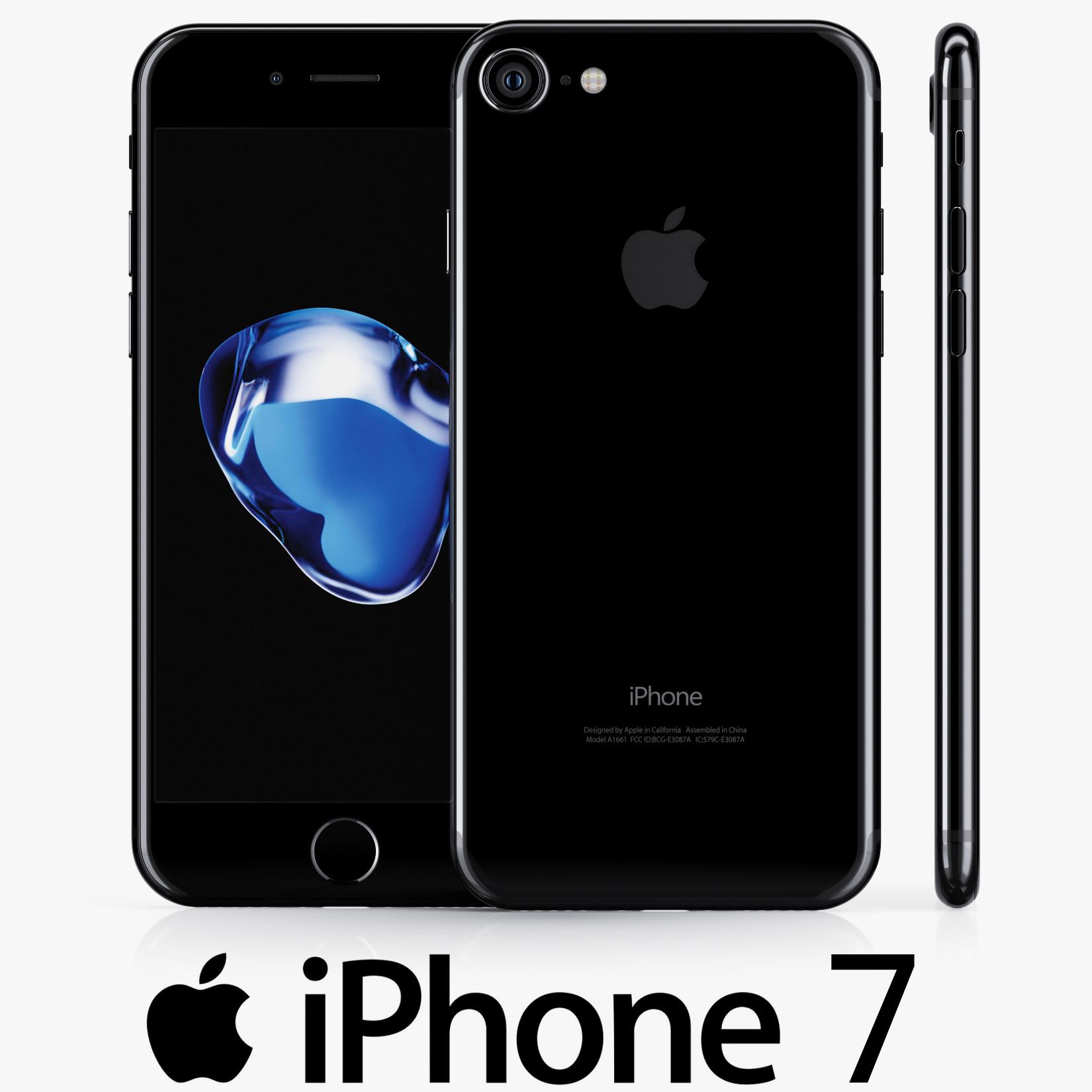 3d model apple iphone 7 jet