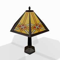 3d classic tabletop lamp model