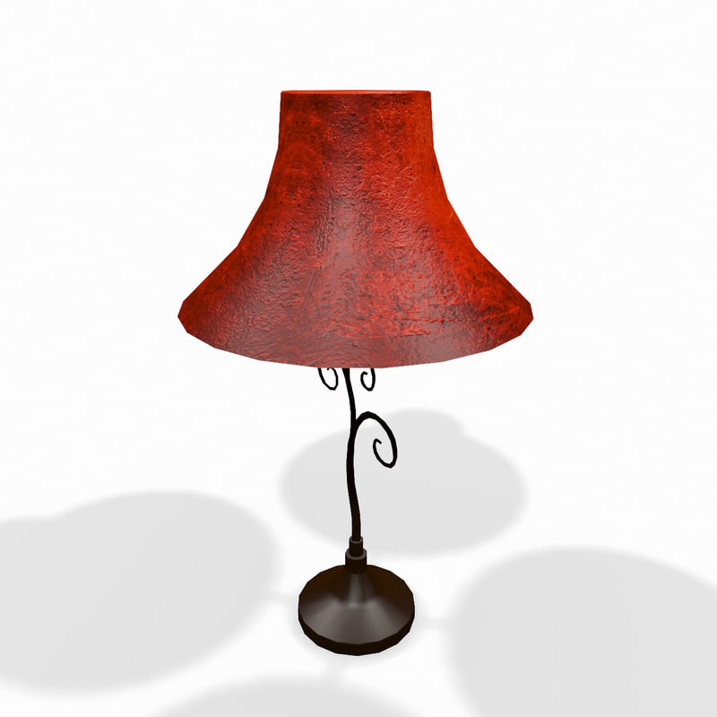 3d model classic wooden lamp