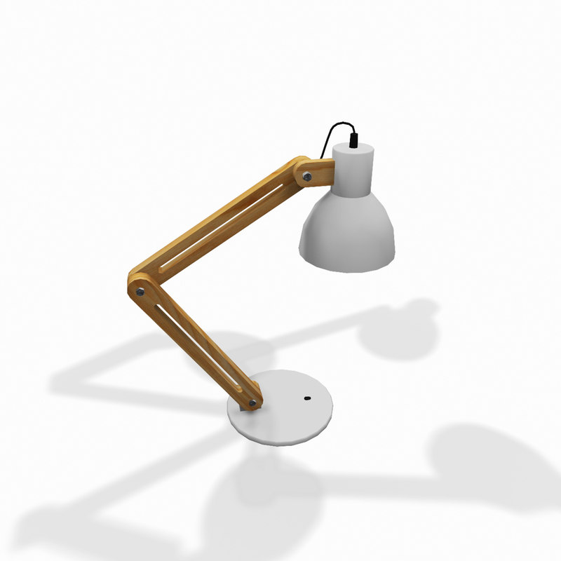 modern desk lamp 3d model