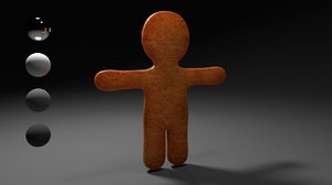 3d model man cookie