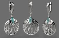 jewelry ring earrings 3d model