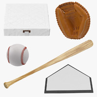 baseball wooden bat 3d model