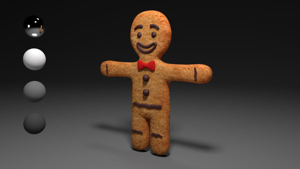 3d model man cookie