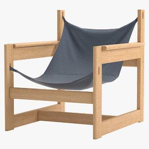 3d chair michel arnoult model