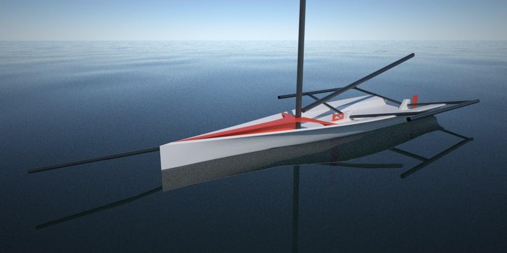 3ds skiff sailboat sail