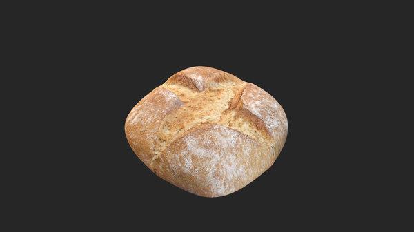 piece bread 3d max