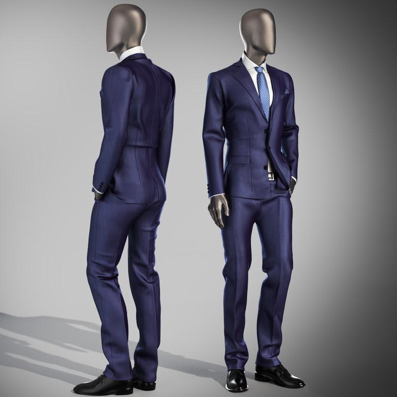 3d mannequin suit