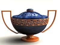3d 3ds vase lapis lazuli gold