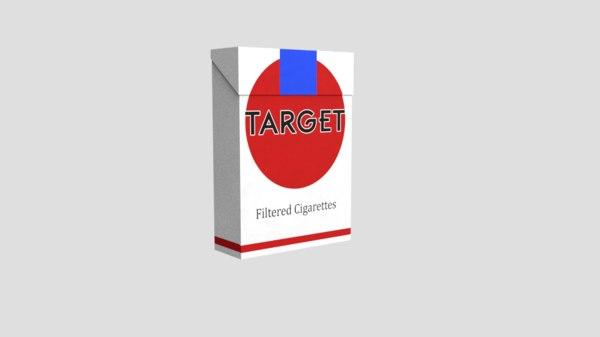 free obj model cigarette box