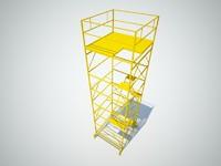 3d scaffolding 2x2m model