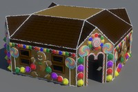 ginger bread house 3d model