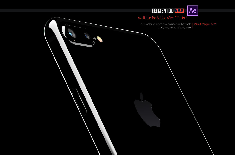3d model of iphone 7 -