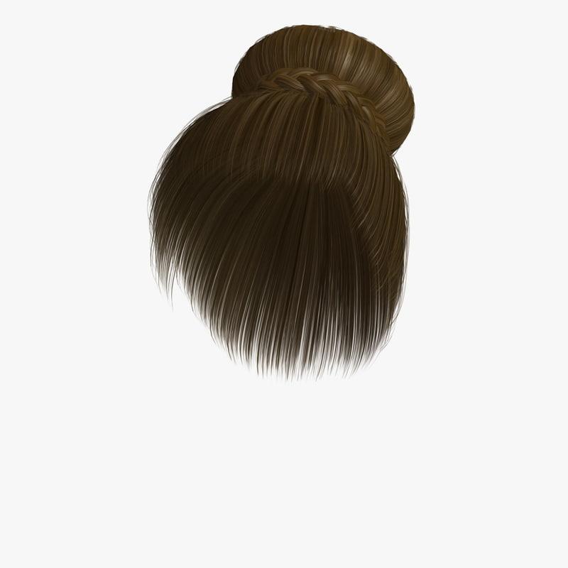 3d sharon hair model