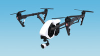 inspire drone 3d model