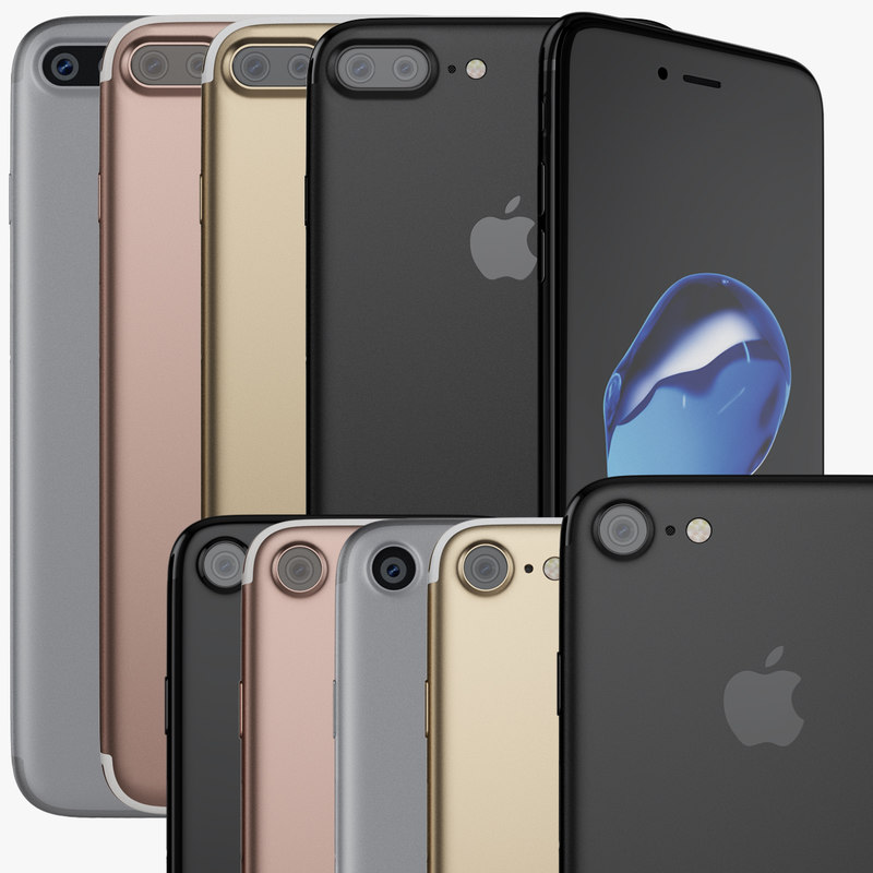 3d apple iphone 7 colors
