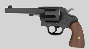3d model modeled colt revolver
