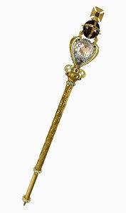 queen s sceptre 3d model