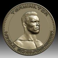 3d model printing arnold schwarzenegger coin