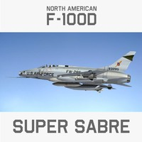 3d north american super sabre